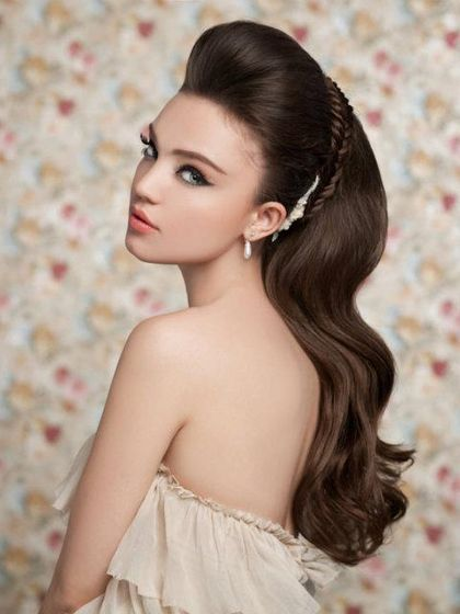 Pictures : Wedding Hairstyles for Long Hair - Long Wedding Hairstyle With Braided Detail