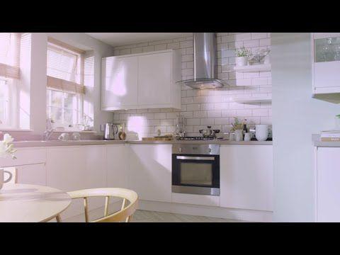 kitchen ideas homebase. Simply Hygena white cream  cashmere high gloss kitchens at Homebase