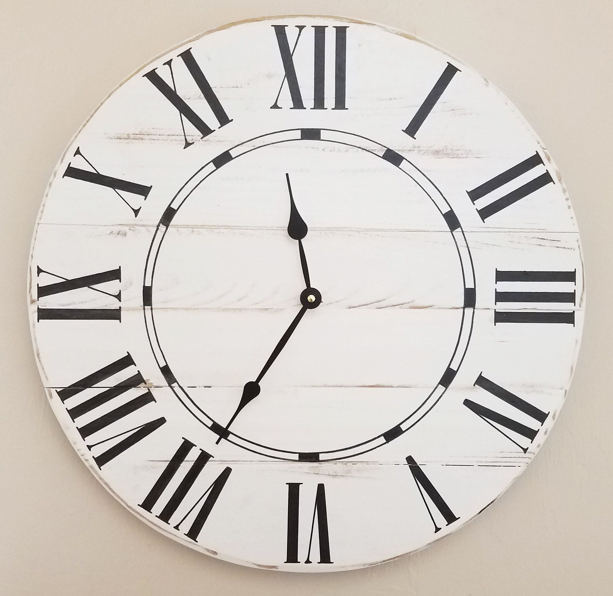 848820ce618a Oversized Farmhouse Wall Clock | Products | Farmhouse wall clocks ...