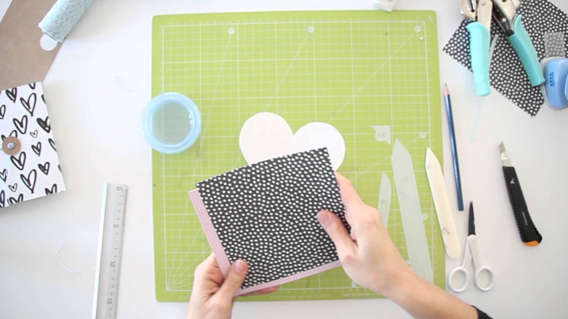 How to scrapbook on youtube - C Mo Hacer Una Tarjeta De San Valentin Scrapbook Tutorial