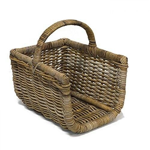 Fireside Open Sided Log Basket Grey Medium Rectangular Co