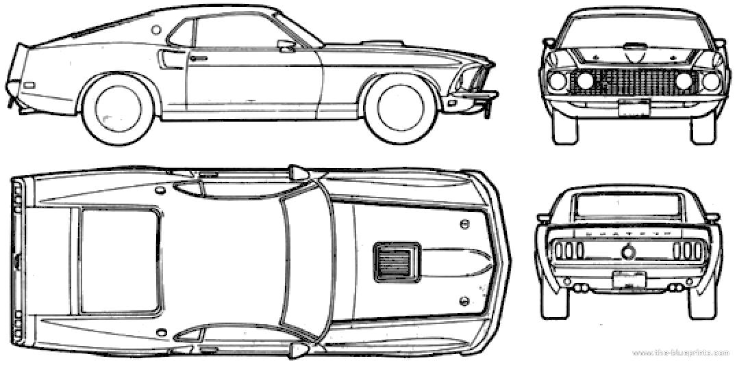 1969 Ford Mustang Blueprints Ford Mustang Ford Mustang 1965 Mustang