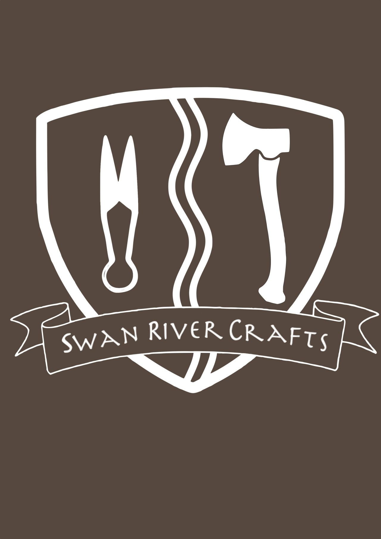 Suunittelin Swan River Craftille logon./ Designed a logo for Swan River Crafts.