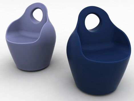 Modern Plastic Outdoor Chairs by Domitalia