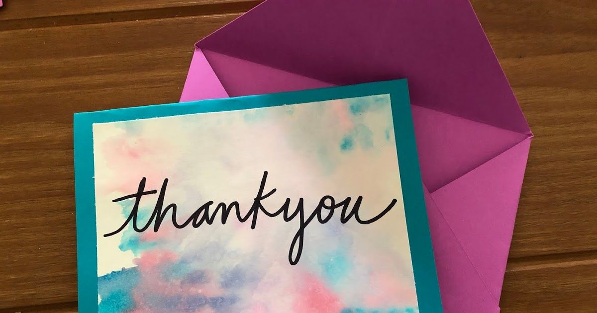 Watercolor Thank You Cards Diy Watercolor Thank You Cards Diy