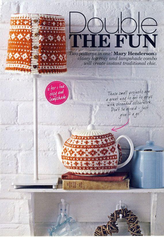 FAIR ISLE Tea Cosy and Lampshade Knitting Pattern. DK ...
