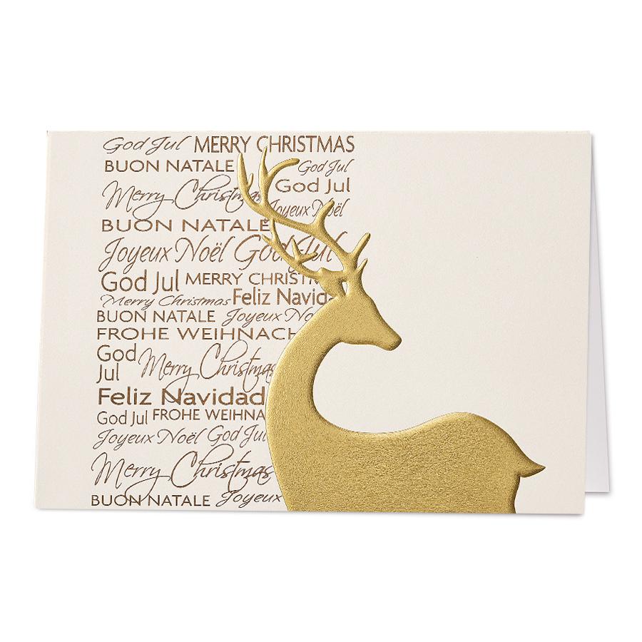 Edle Weihnachtskarten.Edle Weihnachtskarten Mit Schimmernder Gold