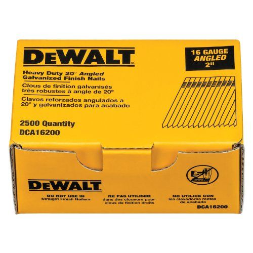 Dewalt Dca16200 2 Inch By 16 Gauge 20 Degree Finish Nail 2 500 Per Box Dewalt Air Tools It Is Finished