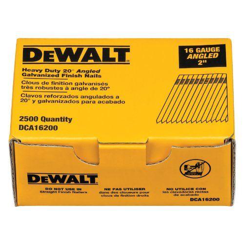 Dewalt Dca16200 2 Inch By 16 Gauge 20 Degree Finish Nail 2 500 Per Box Dewalt Air Tools It Is Finished