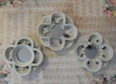 Small Curved Edged Resin/French/Vintage Style/Shabby  LOT/3