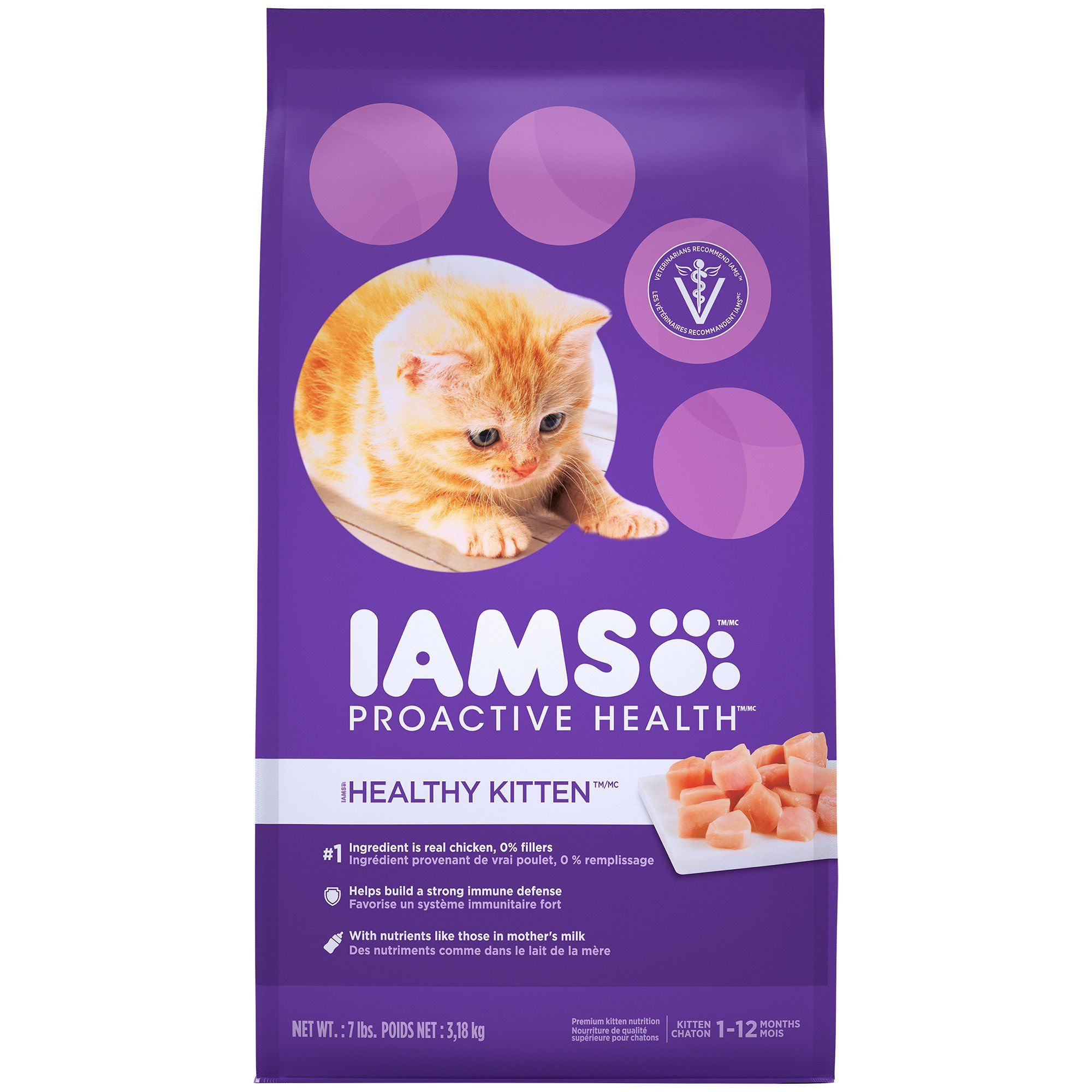 Iams Proactive Health Healthy Kitten Dry Cat Food 7 Lbs Petco Kitten Food Dry Cat Food Best Cat Food