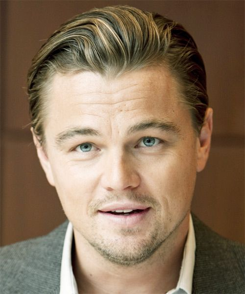 Leonardo Dicaprio Short Straight Formal Hairstyle Dark Blonde Hair