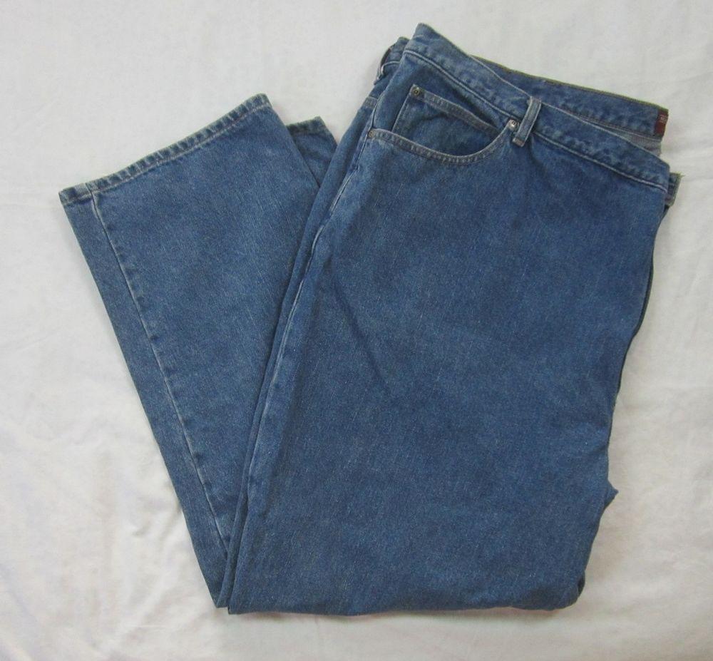 Roundtree & Yorke Authentic Denim Jeans Medium Stone Wash 54 X 32 #RoundtreeYorke #Relaxed