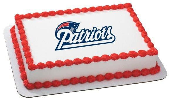 Mini Toppers Celebrations & Occasions Cake Toppers NFL New England Patriots 7 Inch Edible Image Cake & Cupcake
