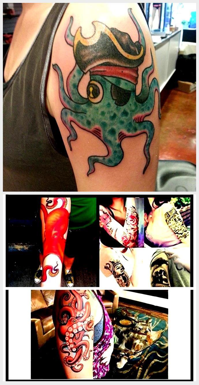 Photo of Pirate Octopus Tattoo, #Octopus #OctopusTattoooldschool #Pirate #Tattoo