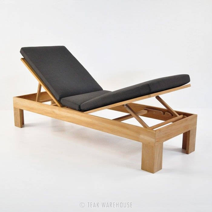 Teak Warehouse Palm Teak Chaise Lounge / $1,11400 Cushion - sillas de playa