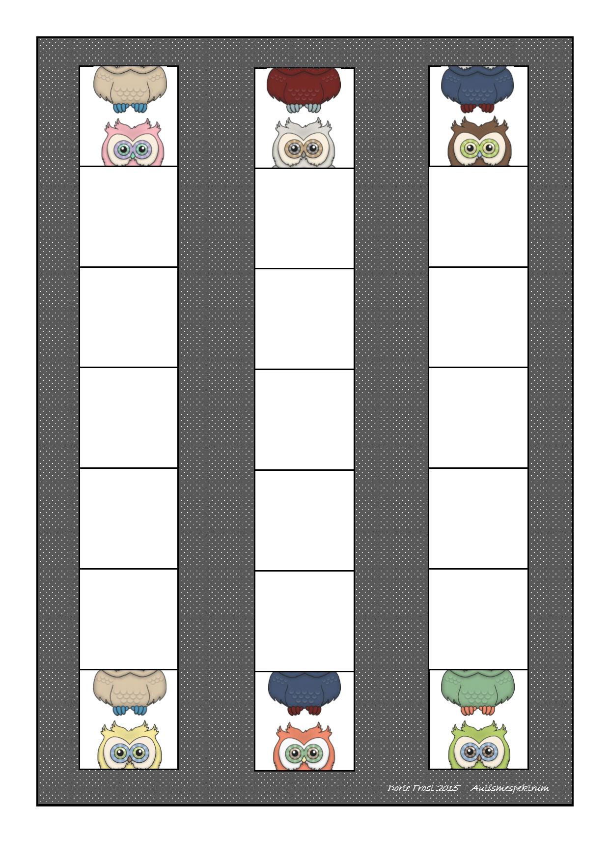 Board for the Domino game. Find the belonging tiles on Autismespektrum on Pinterest. By Autismespektrum