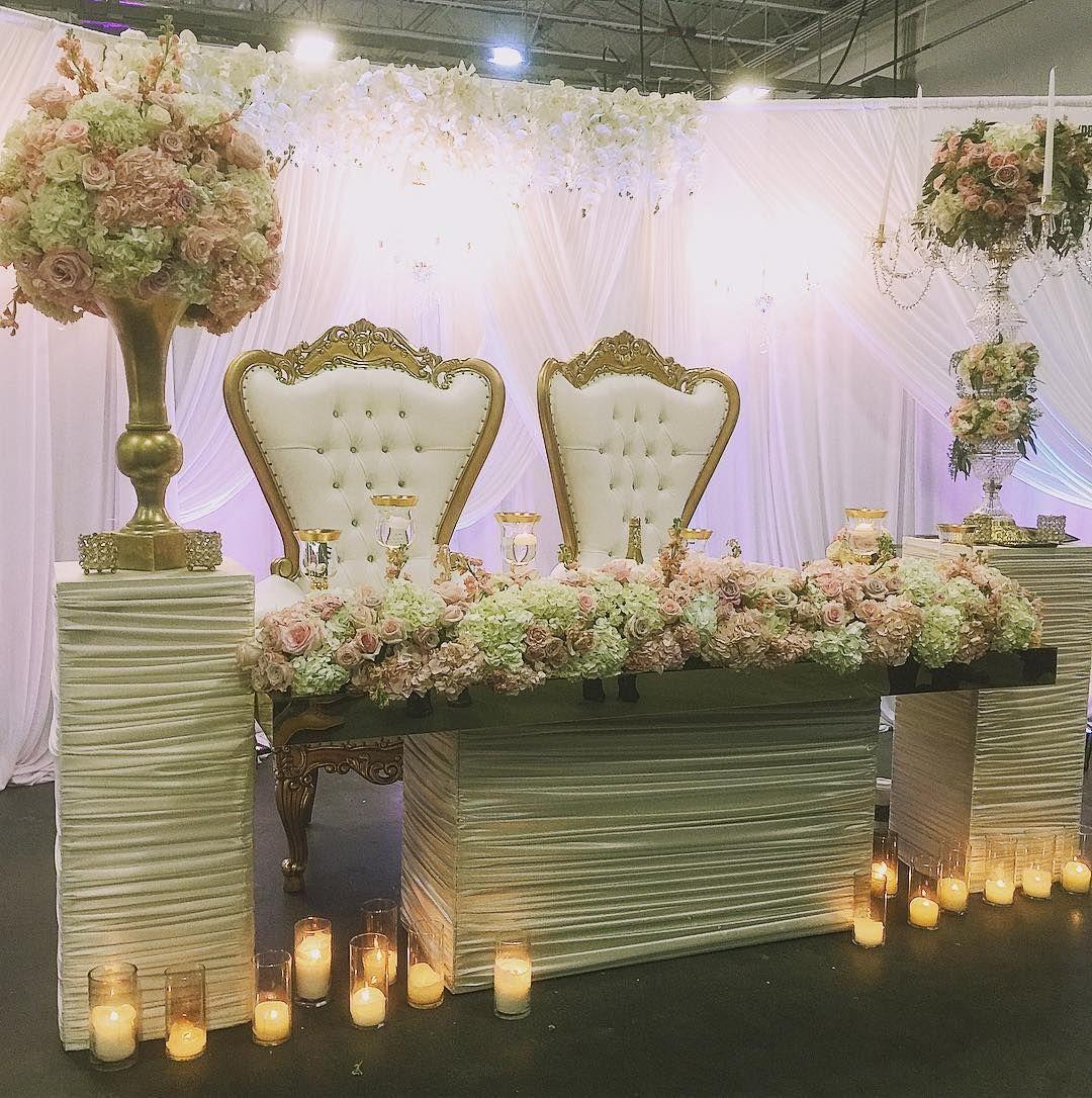 Sweetheart table and #floraldesign by @weddedevents at the New Jersey Bridal & Wedding Expo in the Meadowlands Exposition Center  #njwedding #bridalandweddingexpo #ACSBNJ17 #acsbridalexpo #engaged #engagement #newjersey #bride #brides #grooms #njbrides #njgrooms #weddingplanning #weddingideas #eventprofs #wedding #weddings #njweddings @acsbridalexpo @meadowlands_expo #weddedevents #sweethearttable #centerpiece #flowers #weddingdecor #weddinginspiration #nj