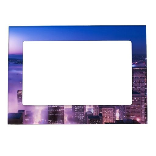 Purple Shades Seattle Panorama Photo Frame Magnets | Fifty Shades of ...
