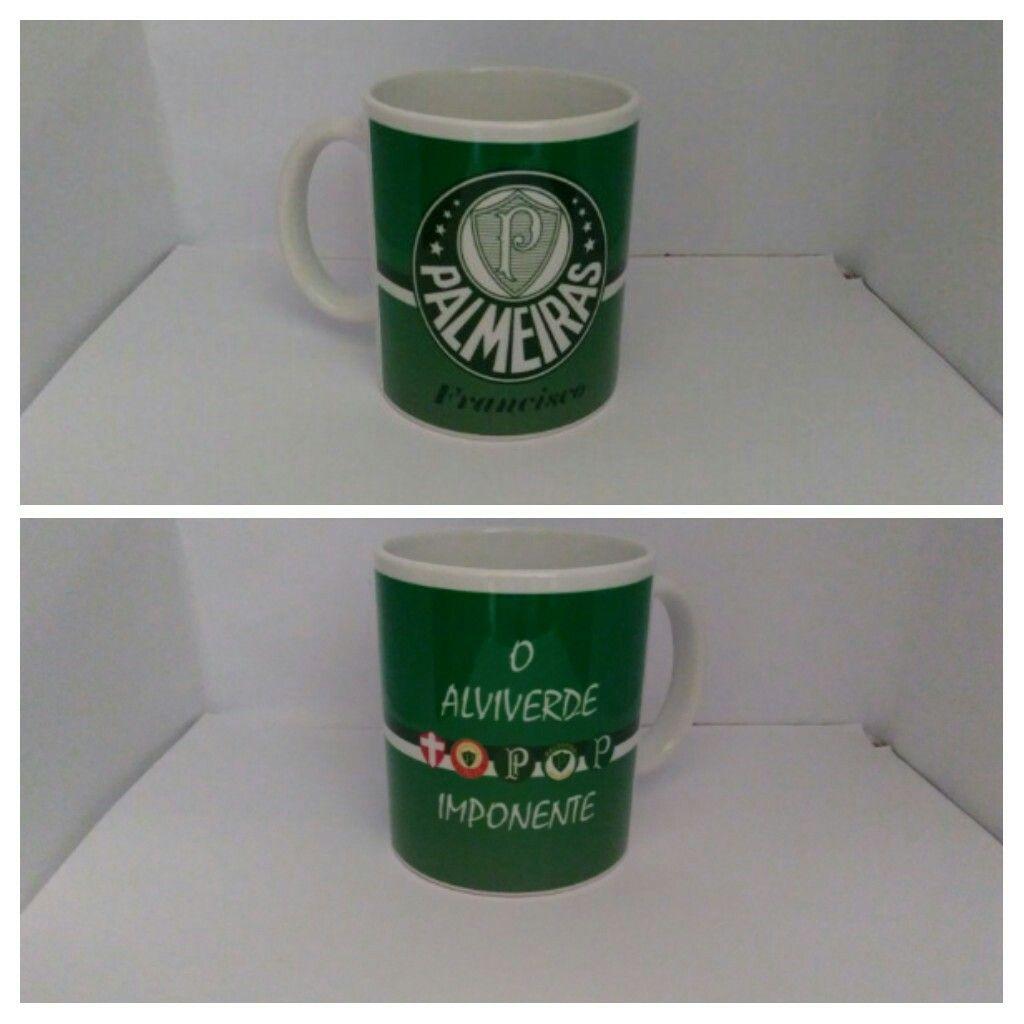 Caneca de cerâmica personalizada do Palmeiras  bbf4b4f67fd6f