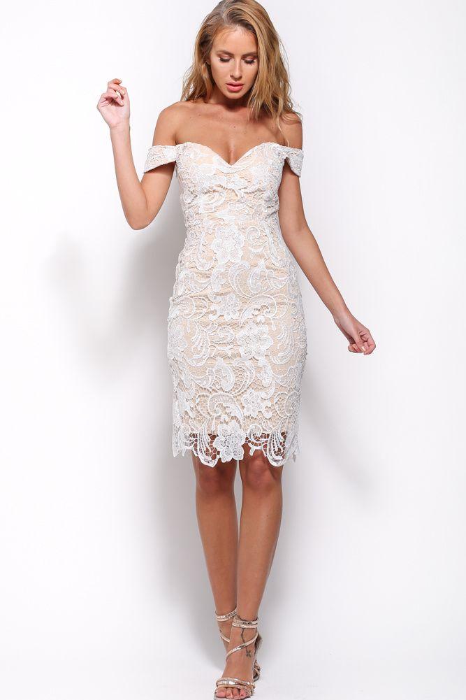 White Lace Rehearsal Dinner Dresses Bonny Bride Rehearsal Dinner Dresses Shower Dress For Bride Lace White Dress