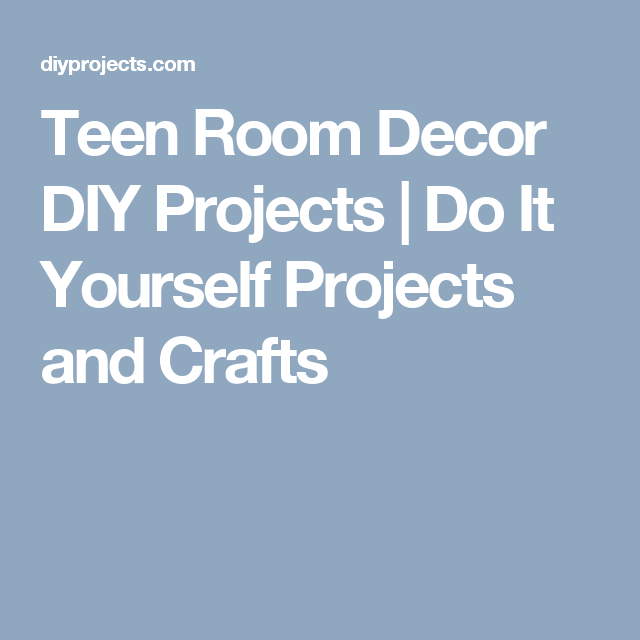 Teen Room Decor DIY Projects   Do It Yourself Projects and Crafts