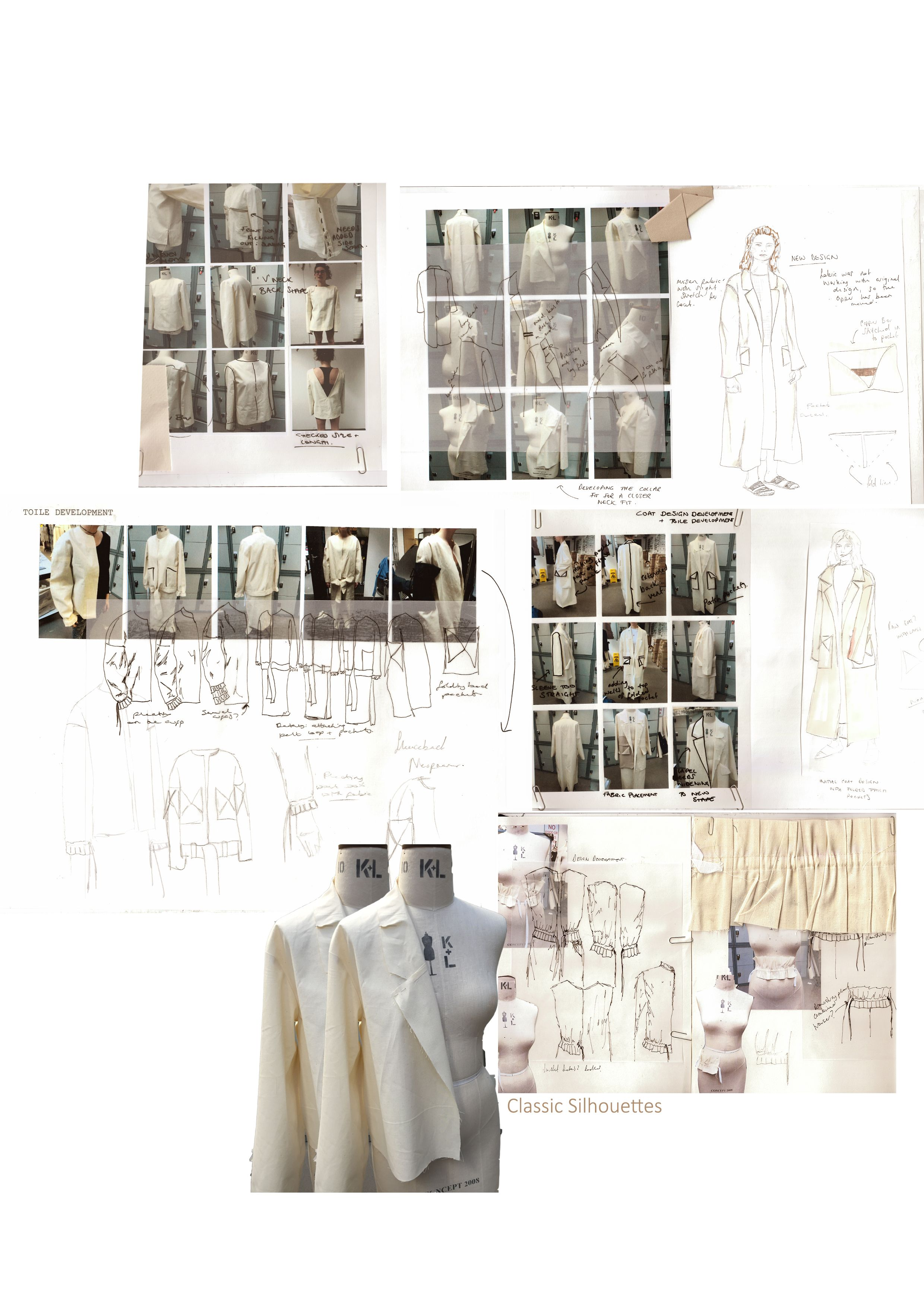 Drape on stand development page Research Pinterest