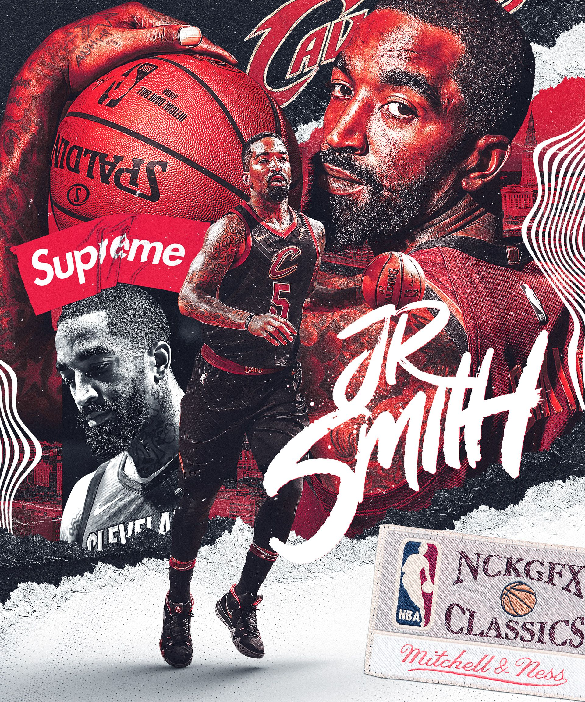 J R Smith Cleveland Cavaliers On Behance Sports Graphic Design Sports Design Sports Design Inspiration