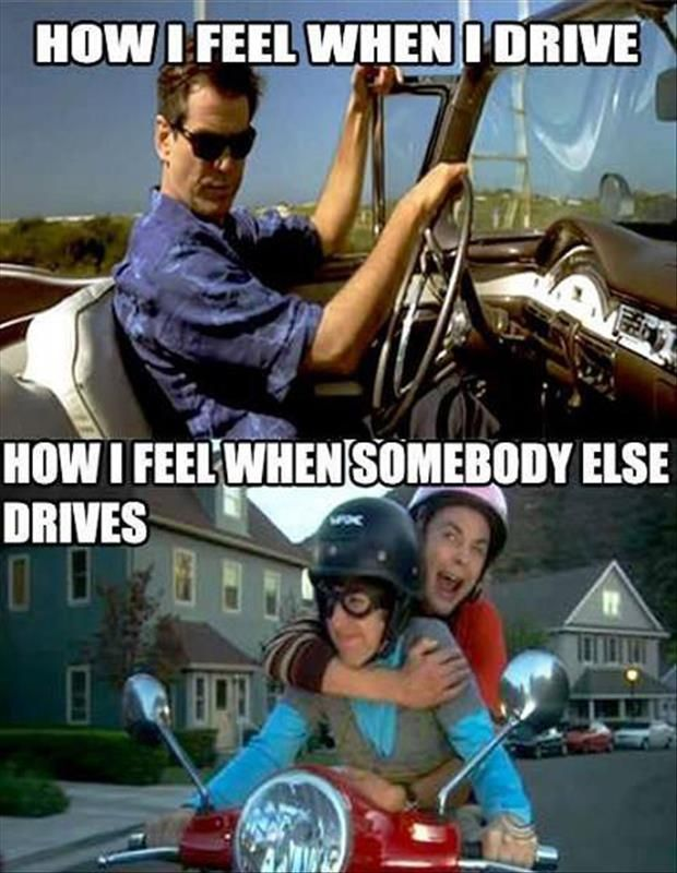 How I feel when I drive VS How I feel when someone else drives. #defensivedriving  #defensivedrivingflorida  #safedriving  #safedrivingflorida  #trafficschool  #trafficschoolflorida  #followme  #mydrive #drivingskills http://www.comedydrivingtrafficschool.com/