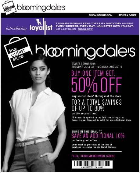 photograph regarding Bloomingdales Printable Coupons referred to as Receive More 10% off at Bloomingdales Outlet Merchants Inside-keep
