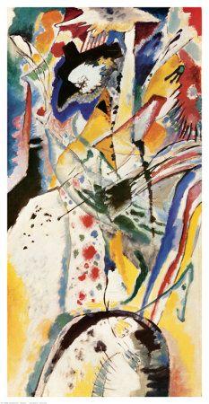 BA compositie/ abstracte composities van de Rus Wassily Kandinsky . Deze horen tot de eerste abstracte schilderijen, tussen 1907 en 1910. De anekdote wil dat Kandinsky viel voor abstractie omdat hij toevallig een van zijn eigen dorpsgezichten omgekeerd bekeek.
