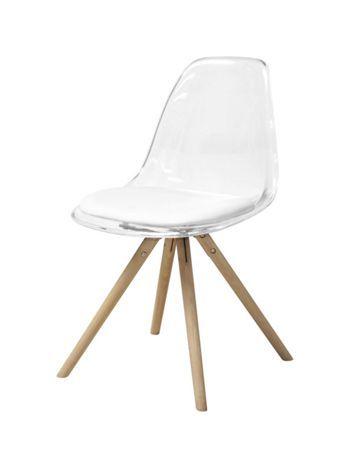 Retro Design Im Esszimmer Stuhl Mit Transparenter Sitzschale