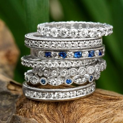 Best 25 Sapphire Wedding Bands Ideas On Pinterest