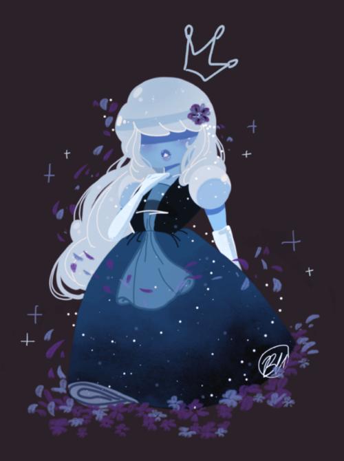 Cutest Ice Princess Sapphire Steven Universe Steven Universe Fanart Steven Universe Gem