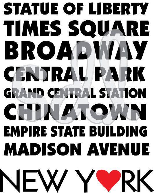 New York Printable Poster