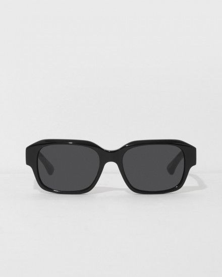 79ec47672999 Black Structural Sunglasses by Dries Van Noten Linda Farrow