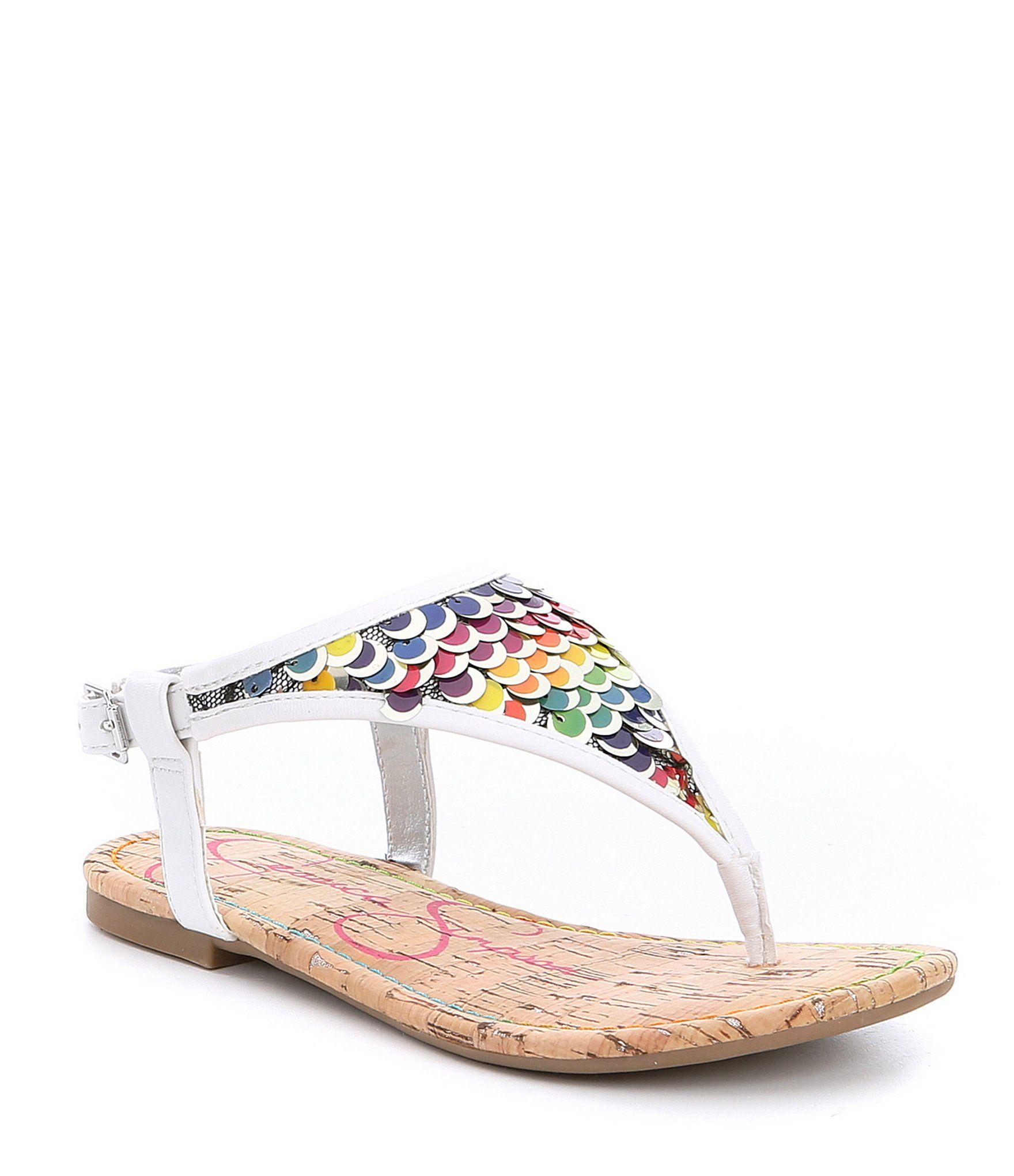 513a10d8f373 Jessica Simpson Girls Kambria Sequin Thong Sandals  Dillards