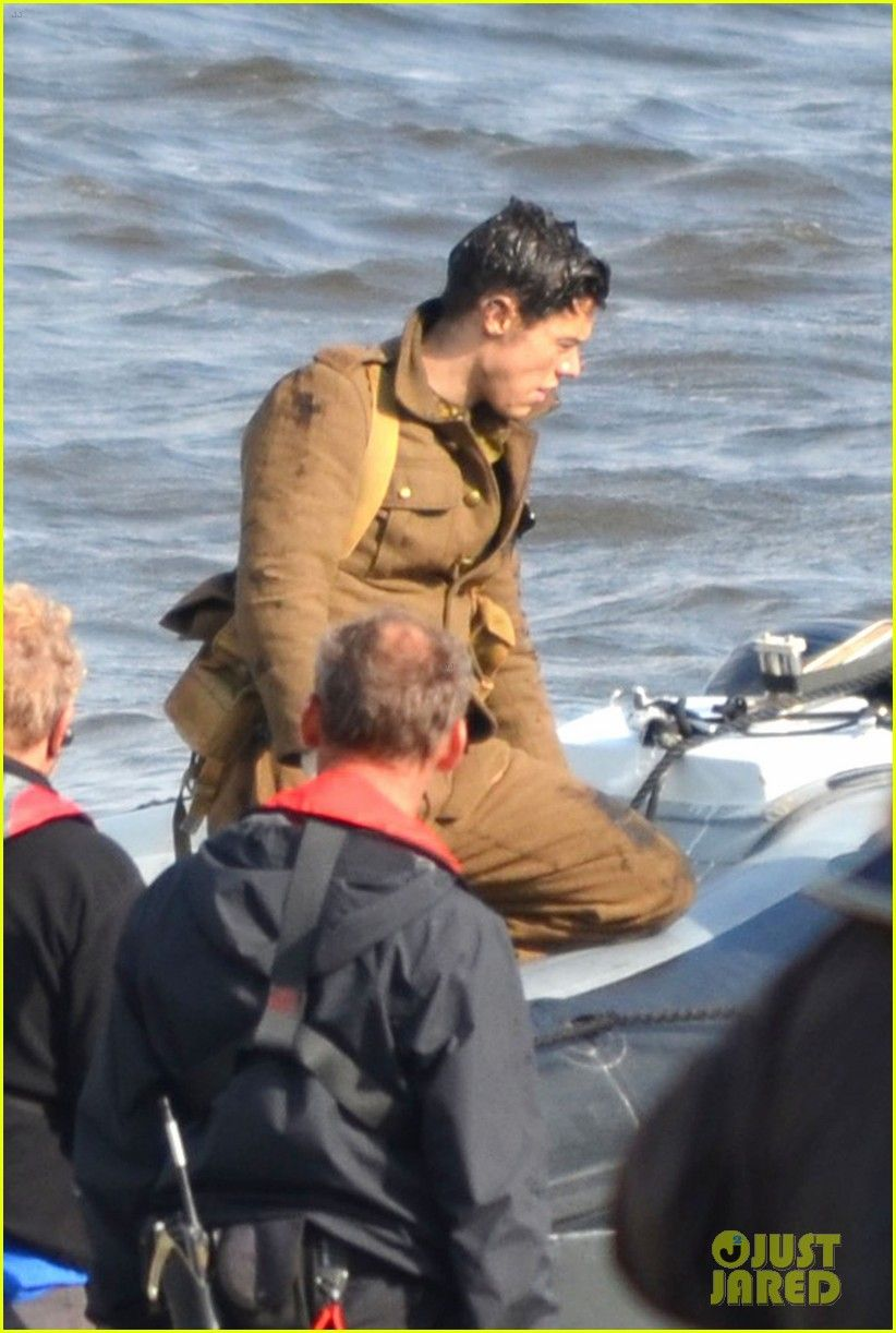 Harry Styles Shows Off His Short Hair On Dunkirk Set One