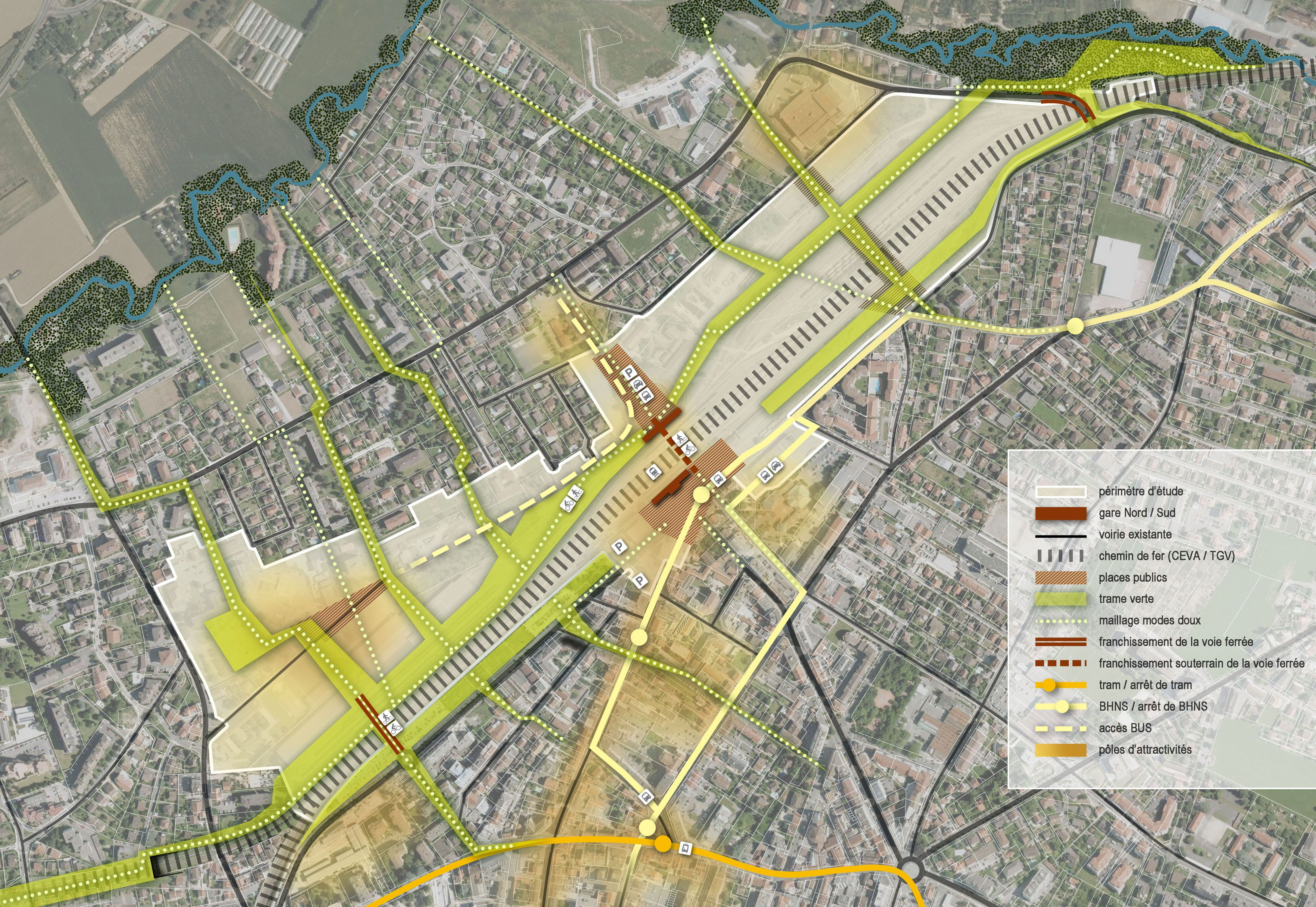 Atelier villes paysages annemasse projet urbain for Agence empreinte paysage