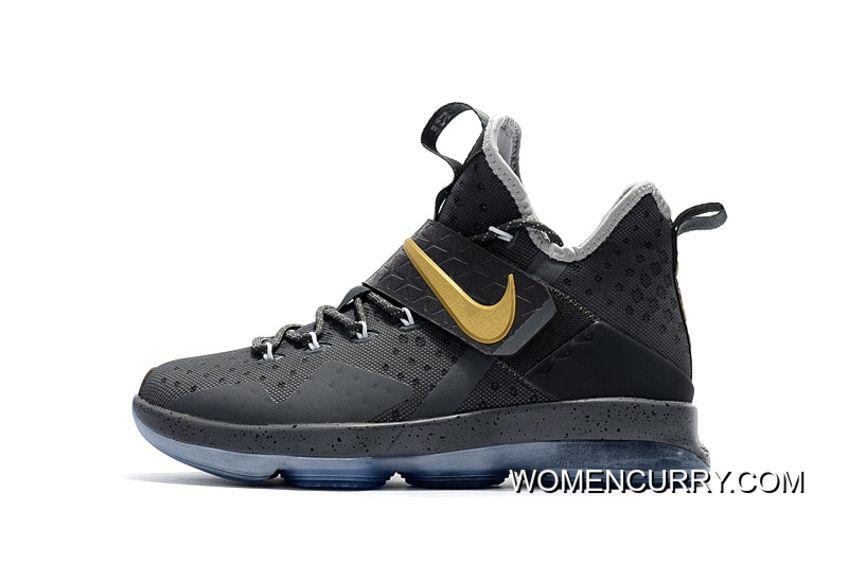 Cheap Nike LeBron 14 PE Ring Night Grey Cement 2017 Release