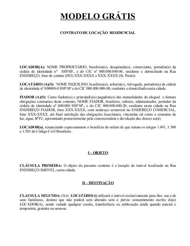Arquivo Contrato De Alugueldoc Enviado Por Edilson Sobre