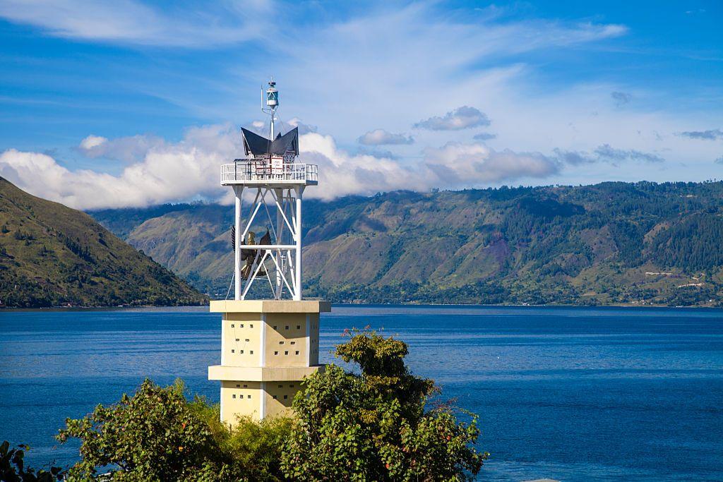 Indonesia Sumatra Samosir Island Lake Toba Parapat View Of Lake Toba Parapat Toba