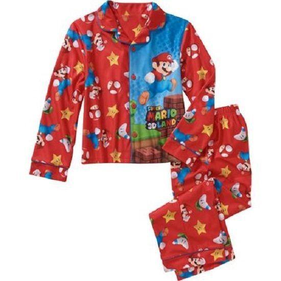 Boys/' Mario Kart 2pc Flannel Pajama Set