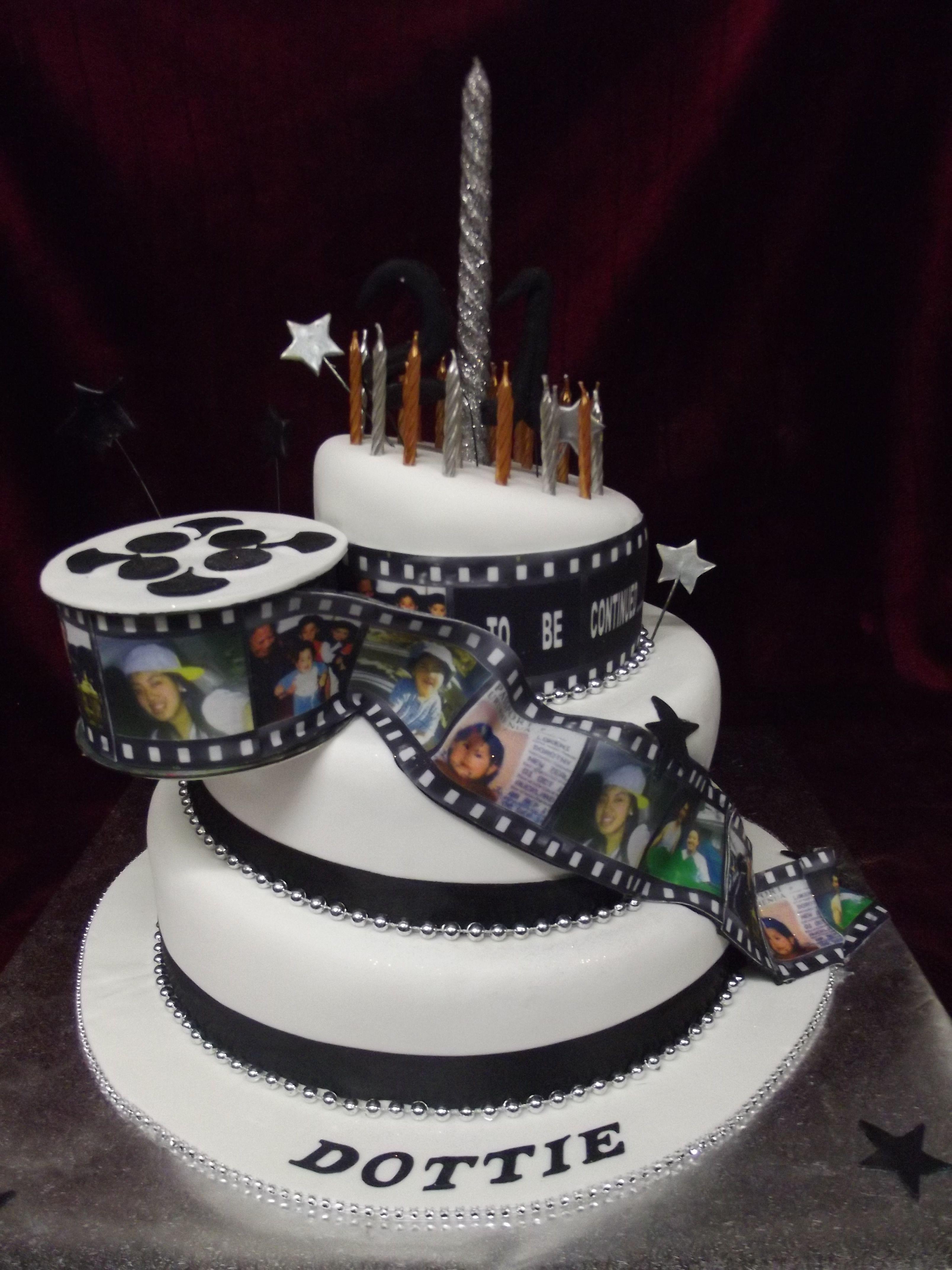 Film strip timeline 21st birthday cake www.frescofoods.co