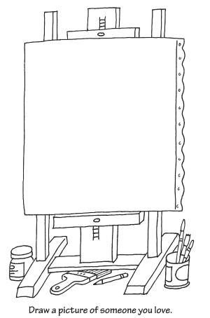 Easel Coloring Page | Activities for Kids | Pinterest | Art easel ...
