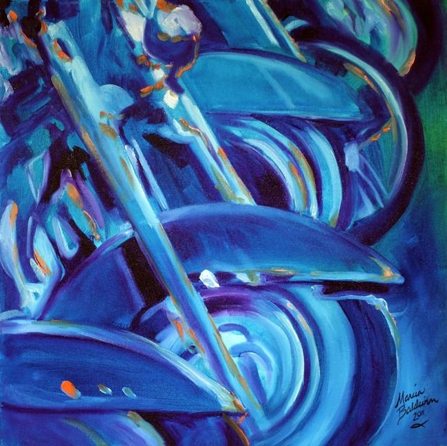 MOTORCYCLE ABSTRACT ROADKING By Marcia Baldwin Shreveport Louisiana MONOCHROMATIC COLOR Monochromatic Color SchemeFine Art