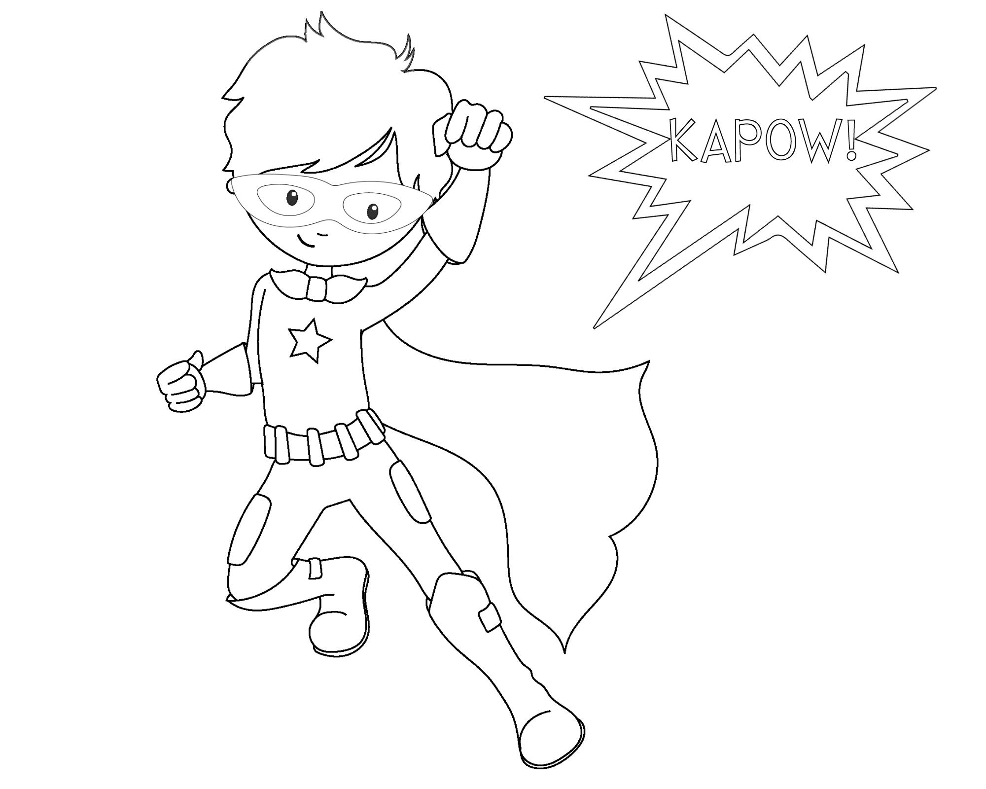 Free Printable Superhero Coloring Sheets For Kids Super Hero