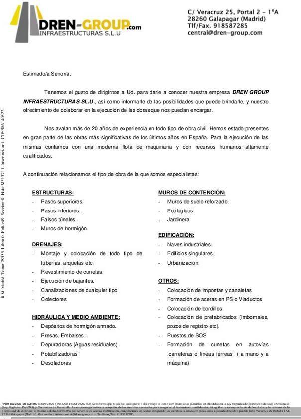 Carta Presentacion Empresarial