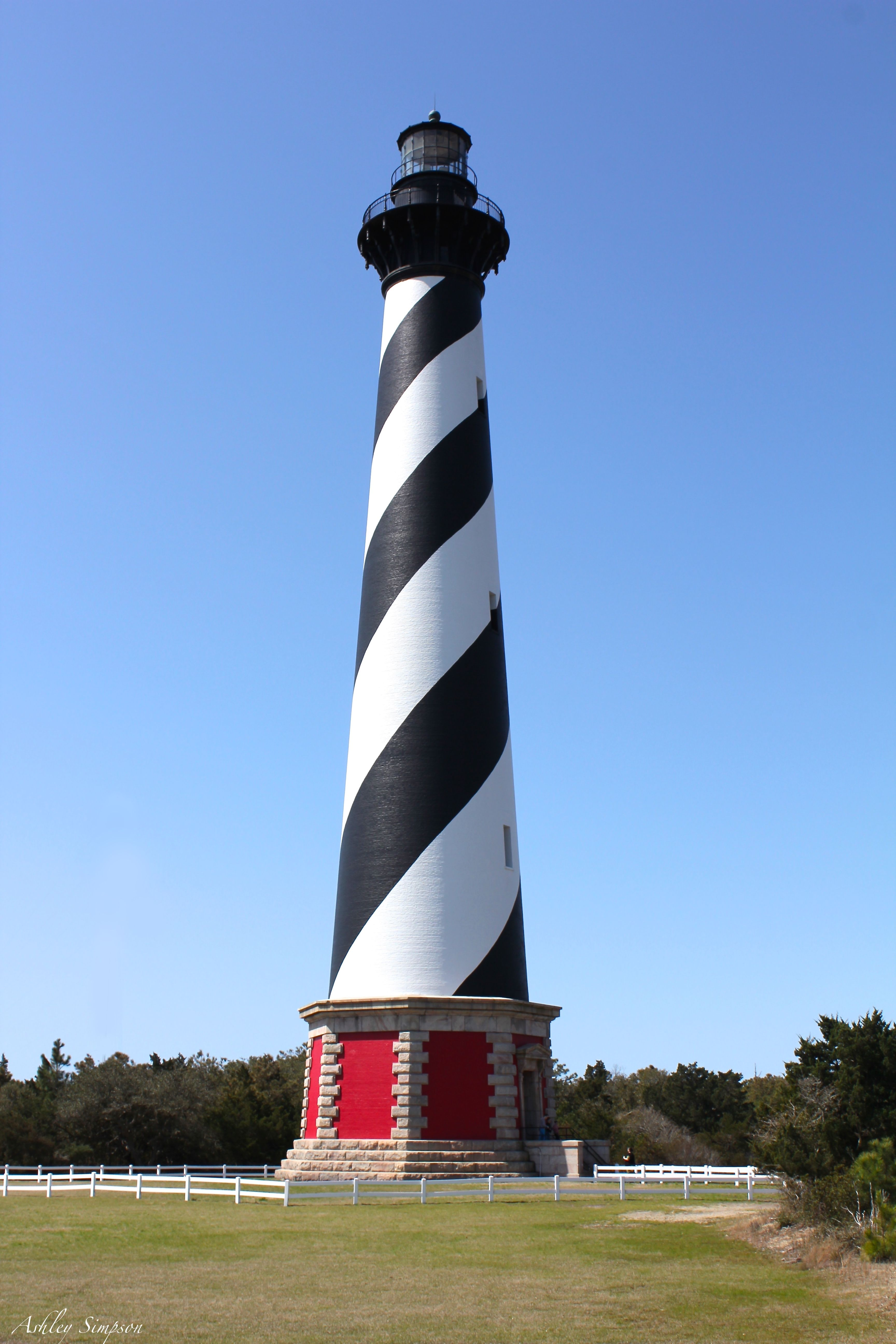 Cape Hatteras Lighthouse located in Buxton on the Outer Banks of