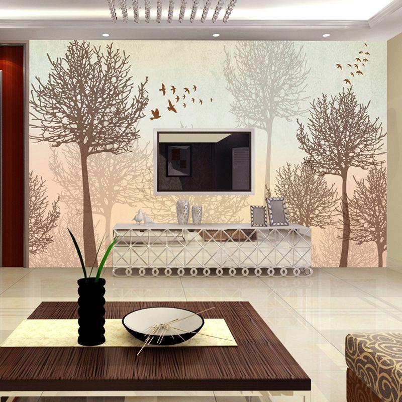 Aliexpress Comprar Mural bosque jardín salón fondo moderno de - tapices modernos